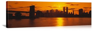 New York, New York Sunset Over the City Panorama Picture