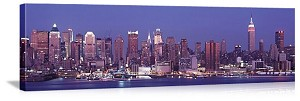 New York, New York West Side Skyline Panorama Picture
