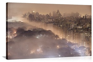 New York, New York City in Fog Panorama Picture