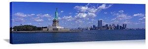 New York, New York Statue of Liberty Panorama Picture