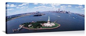 New York, New York Lady Liberty Panorama Picture