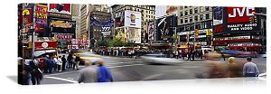 New York, New York Bustle in Times Square Panorama Picture