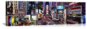 New York, New York Evening in Times Square Panorama Picture