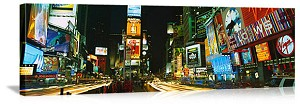 New York, New York  Lights of Times Square Panorama Picture