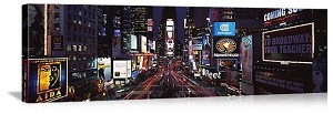 New York, New York Times Square Night Scene Panorama Picture