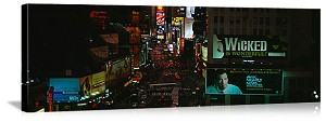 New York, New York Midnight In Times Square Panorama Picture