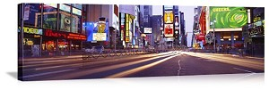 New York, New York Times Square Streetscene Panorama Picture