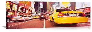 New York, New York Times Square Traffic Panorama Picture