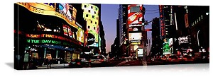 New York, New York Times Square Twilight Panorama Picture