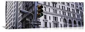 New York, New York Wall Street Sign Panorama Picture
