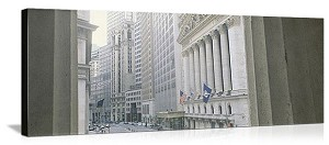 New York, New York NYSE Wall Street Panorama Picture