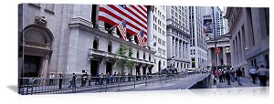 New York, New York Wall Street Panorama Picture