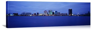 Norfolk, Virginia Waterfront Skyline Panorama Picture