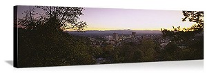 Asheville, North Carolina Skyline Panorama Picture