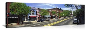 Franklin, Pennsylvania Main Street Panorama Picture