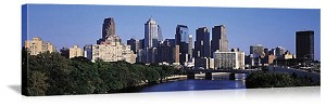 Philadelphia, Pennsylvania Delaware River Skyline Panorama Picture