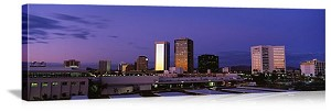 Phoenix, Arizona Twilight Skyline Panorama Picture