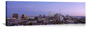 Phoenix, Arizona Evening Skyline Panorama Picture
