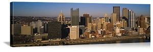 Pittsburgh, Pennsylvania  Downtown Riverfront Skyline Panorama Picture