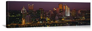 Pittsburgh, Pennsylvania Night Skyline Panorama Picture