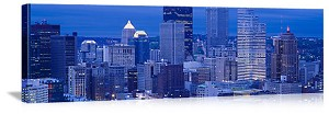 Pittsburgh, Pennsylvania Evening Skyline Panorama Picture
