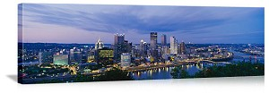 Pittsburgh, Pennsylvania Monongahela Riverfront Skyline Panorama Picture