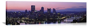 Pittsburgh, Pennsylvania Three Rivers Confluence Panorama Picture