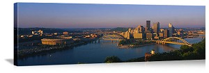Pittsburgh, Pennsylvania Sunset Skyline Panorama Picture