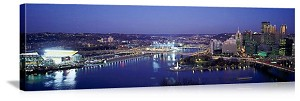 Pittsburgh, Pennsylvania Twilight City Skyline Panorama Picture