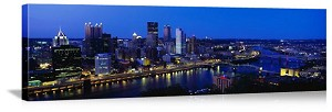 Pittsburgh, Pennsylvania Three Rivers Skyline Panorama Picture