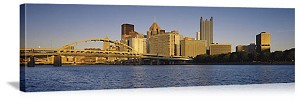 Pittsburgh, Pennsylvania  Riverfront Skyline Panorama Picture