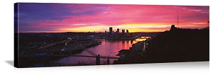 Pittsburgh, Pennsylvania  West End Bridge Skyline Panorama Picture