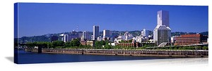 Portland, Oregon Downtown Skyline Panorama Picture