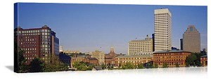 Providence, Rhode Island City Skyline Panorama Picture