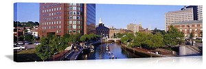 Providence, Rhode Island Waterfront Skyline Panorama Picture
