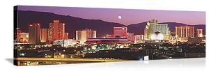 Reno, Nevada Moon Over Reno Panorama Picture