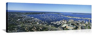 Newport, Rhode Island Aerial Skyline Panorama Picture