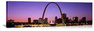 Saint Louis, Missouri Twilight City Skyline Skyline Panorama Picture