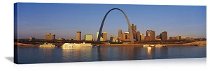 Saint Louis, Missouri Mississippi Riverboats Panorama Picture