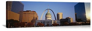 Saint Louis, Missouri Capitol Building Skyline Panorama Picture