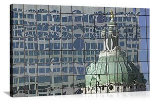 St. Louis, Missouri Old Courthouse Reflection Panorama Picture
