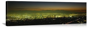 Salt Lake City, Utah City Lights Skyline Panorama Picture