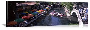 San Antonio, Texas River Walk Panorama Picture
