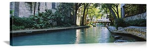 San Antonio, Texas River Walk Canal Panorama Picture