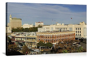 San Antonio, Texas Streetscape Day Panorama Picture