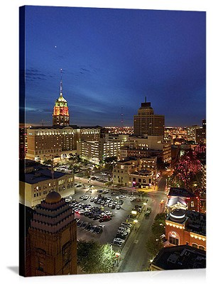 San Antonio, Texas Night Sky Panorama Picture
