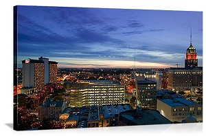 San Antonio, Texas  Tower Life Building at Dusk Panorama Picture