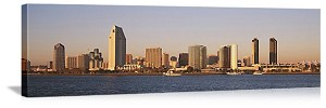 San Diego, California Oceanfront Skyline Panorama Picture