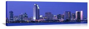 San Diego, California Downtown Skyline Panorama Picture