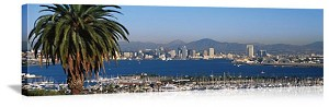 San Diego, California City Skyline Panorama Picture
